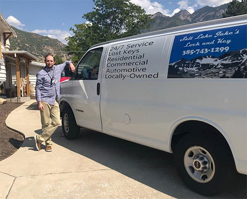 Jake Boxton, Owner and his locksmith van