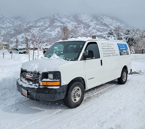 Jake's truck in the snow